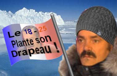 Sticker pole nord drapeau froid glace jvc