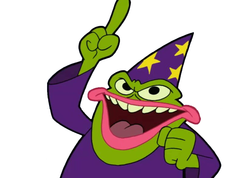 Sticker other cartoon network dean toad blatt magicien grenouille pepe the frog krankin doigt leve
