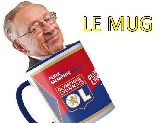 Sticker risitas lyon ol larry mug