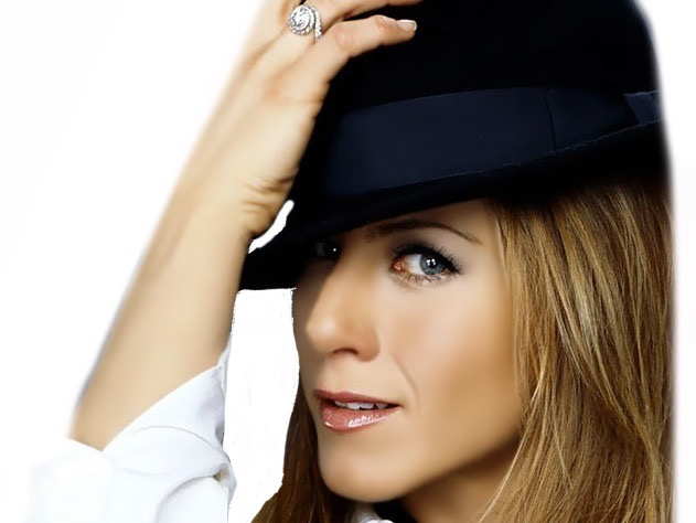 Sticker other chapeau jennifer aniston belle femme