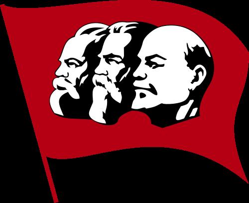 Sticker politic urss communisme bolchevique revolution staline marx engels lenine rouge drapeau