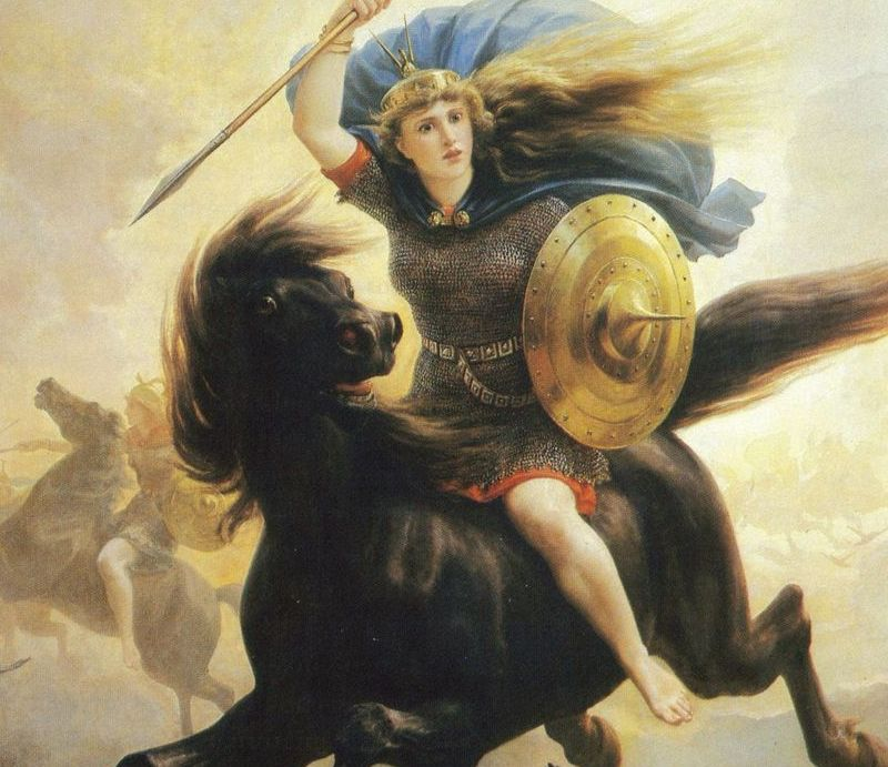 Sticker risitas valkryie mythologie dieu odin jupiter religion guerre feminisme femme avortement contraception