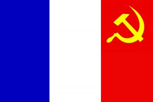 Sticker risitas france drapeau francais communisme communiste marteau faucille