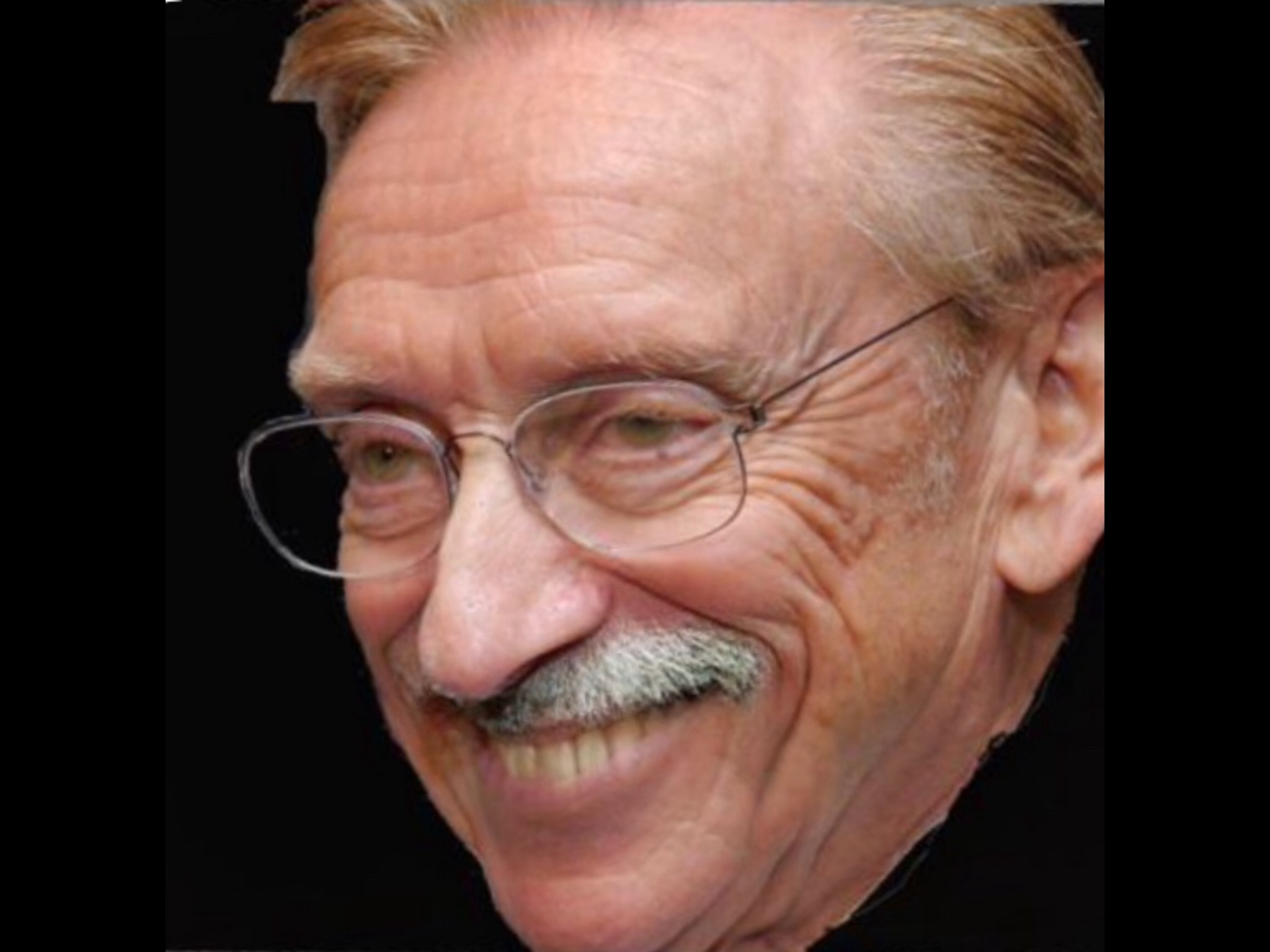 Sticker larry moustache silverstein la chance complot incognito cache norage rire sourire louche regard pervers perv