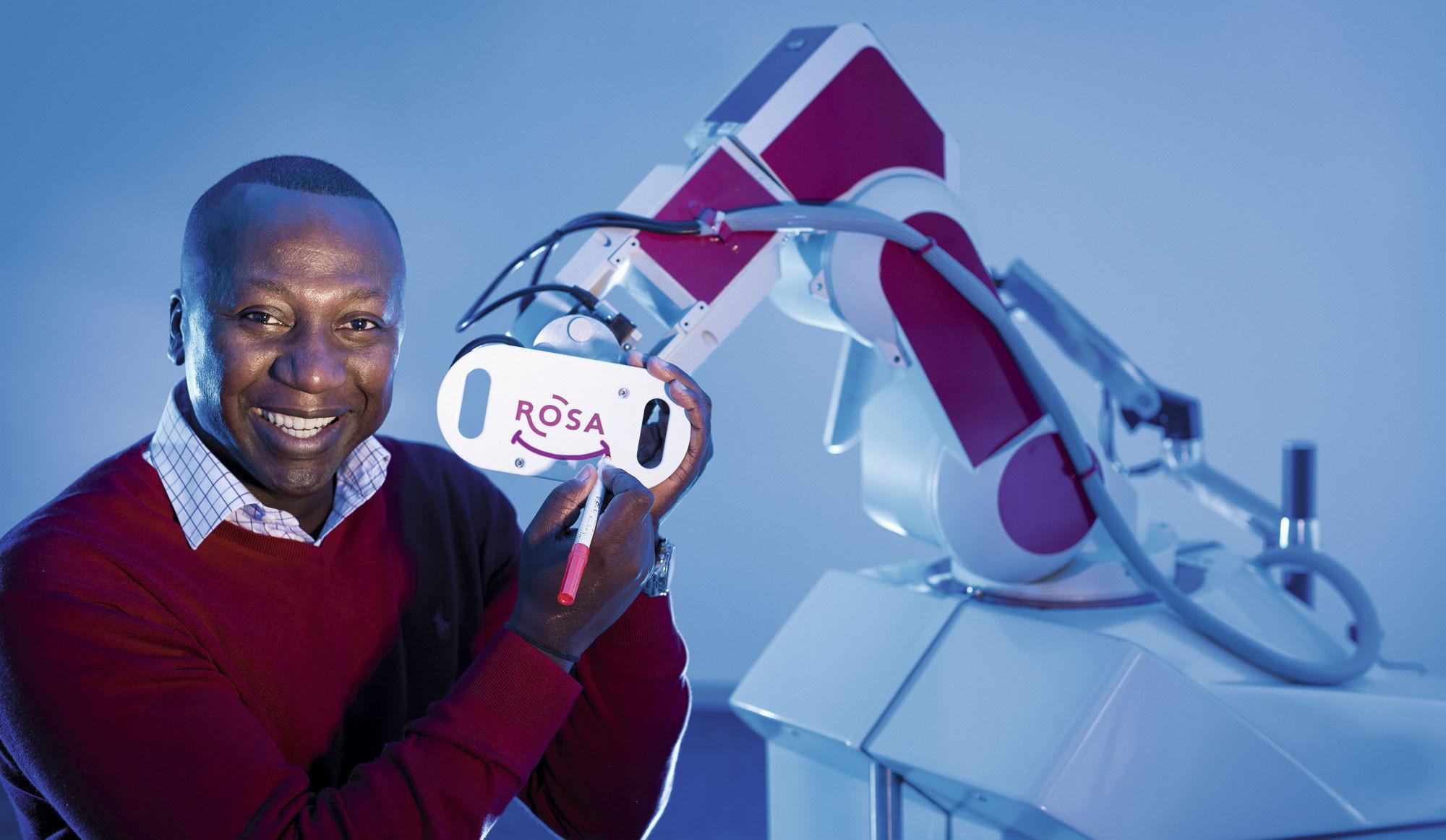 Sticker risitas bertin nahum qi intelligence noir africain afrique neurologie chirurgie robot rosa
