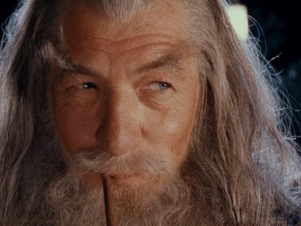 Sticker other gandalf sourire pipe seigneur des anneaux fume lsa fumee le gris