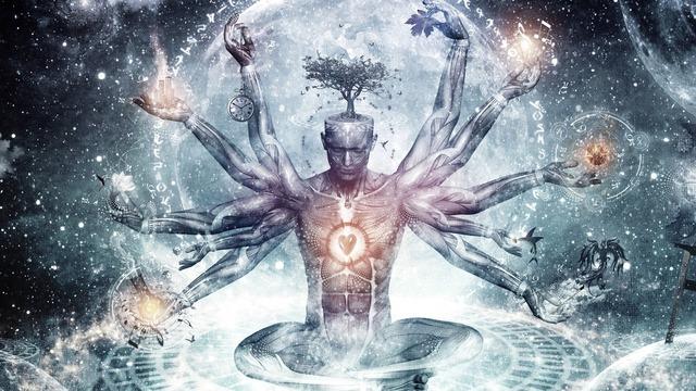 Sticker other mind brain transcendance omniscient vision cosmique parallele dimension
