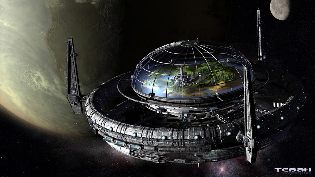 Sticker risitas station orbitale espace sf science ovni ufo vaisseau galaxie