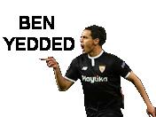 Sticker other foot ben yedder united seville ldc football blacked
