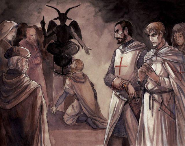 Sticker politic templier satan baal culte christianisme baphomet