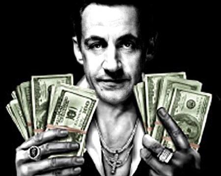 Sticker politic sarkozy nicolas scarface sarko gangster libye prison thug thuglife bandit racaille crime parrain mafia
