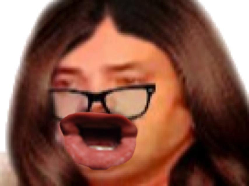 Sticker eussou risitas femme lunette feministe eco femen