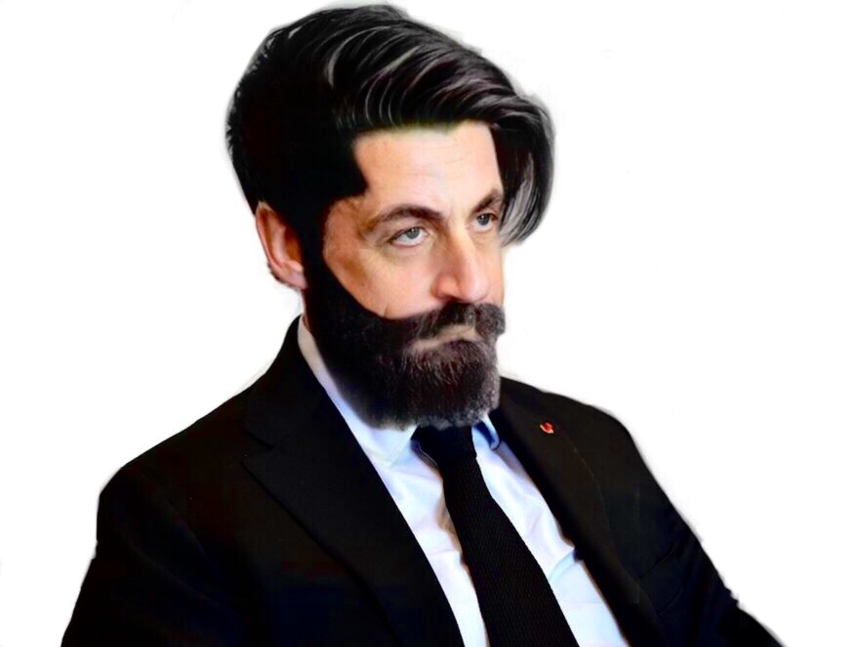 Sticker sarkozy barbe undercut bg alpha beubar minox beau gosse viril seducteur charme minoxidil classe sarko drague