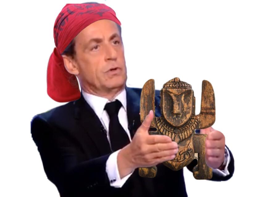 Sticker politic sarko totem koh lanta immunite diplomatique innocent vous fumez monsieur nicolas sarkozy