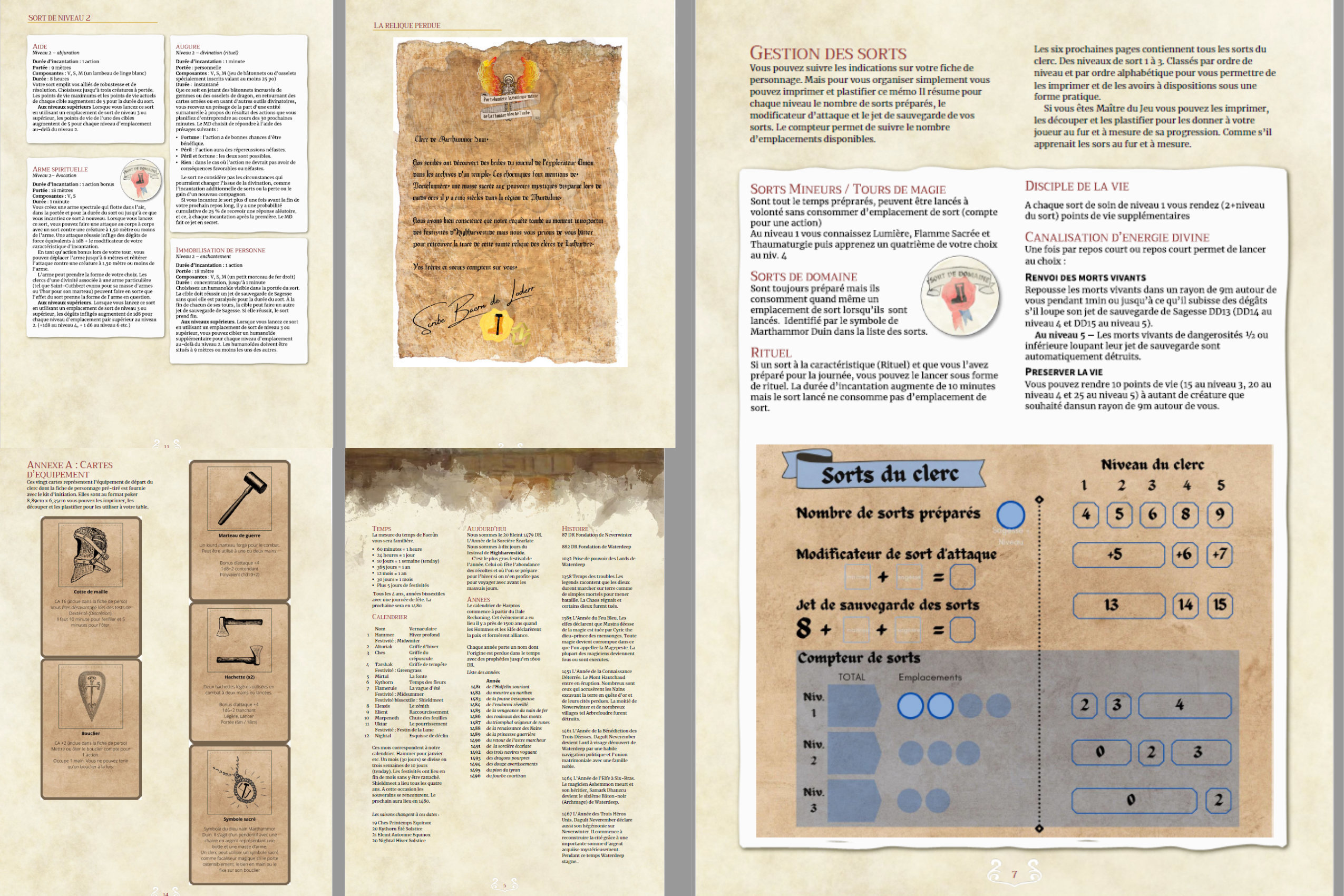 Samples of the contents within the PDF