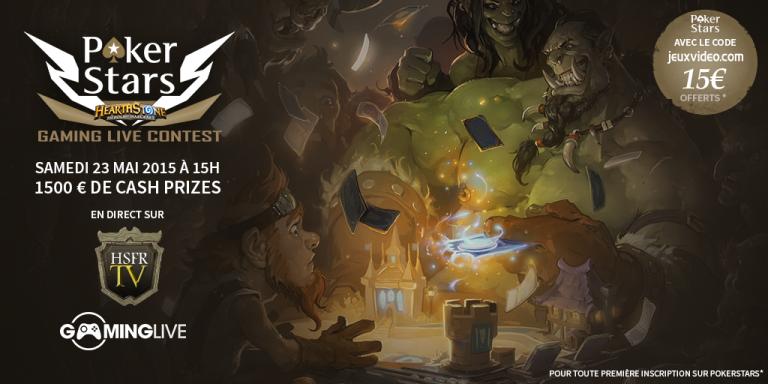 Un tournoi HearthStone communautaire sur Gaming Live