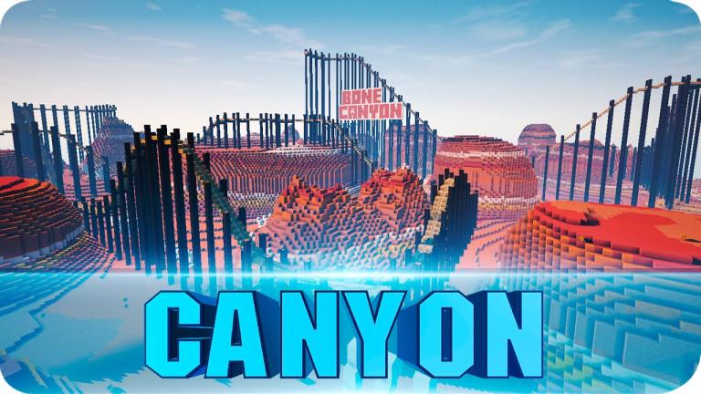 Bone Canyon : Montagnes russes géantes dans Minecraft