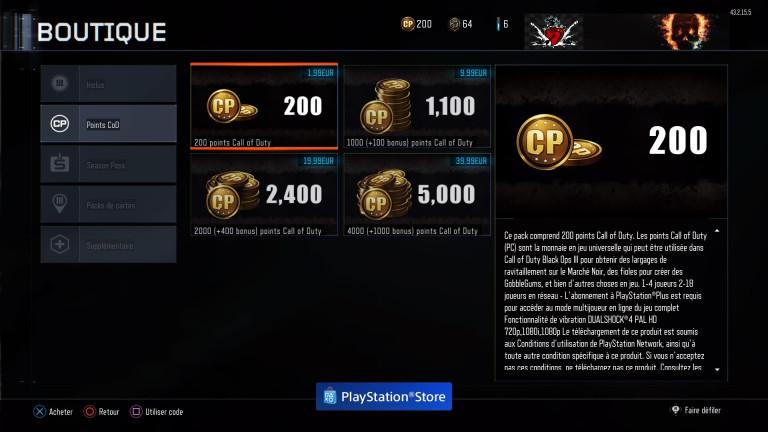 Black Ops 3 : Les CoD Points font leur entrée sur le jeu