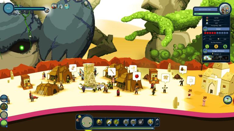 Une colonie au beau milieu du désert