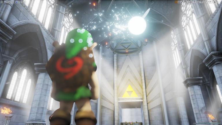 Zelda Ocarina of Time : Le Temple du Temps revisité par l'Unreal Engine 4