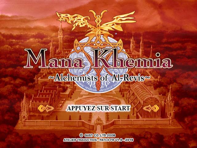 Un patch de traduction française pour Mana Khemia: Alchemists of Al-Revis