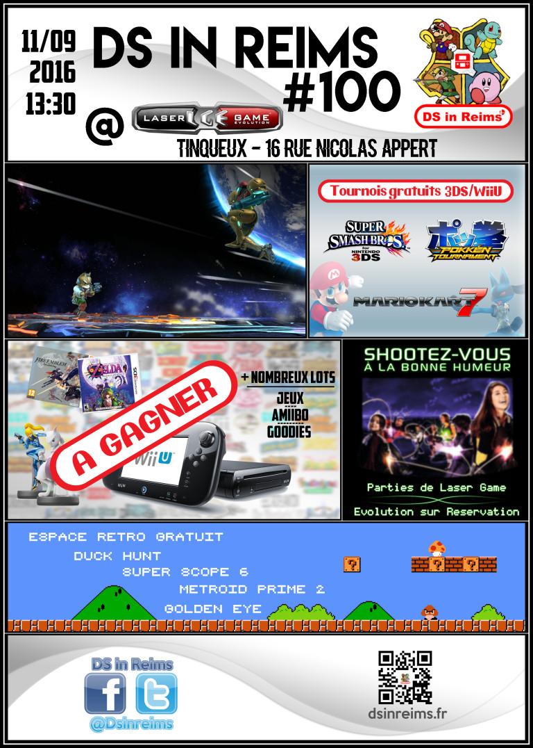 DS in Reims : la 100ème dimanche avec des tournois 3DS et du retrogaming