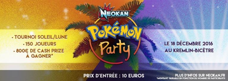 La Pokémon Party, grand tournoi pour les fans de Pokémon Soleil & Lune