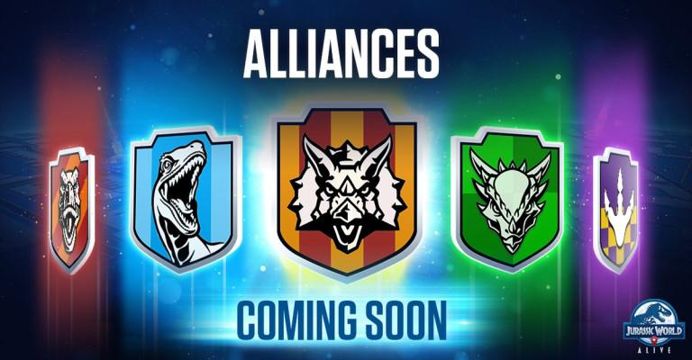 Jurassic World Alive : Les alliances arrivent !