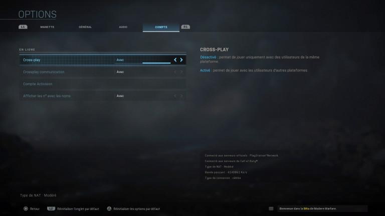 Call Of Duty Modern Warfare BETA: crossplay et mode Guerre Terrestre 32vs32