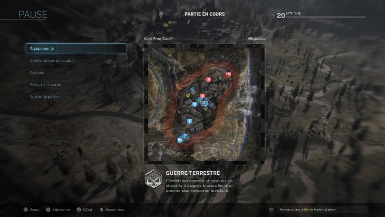 Call Of Duty Modern Warfare BETA : crossplay et mode Guerre Terrestre 32vs32