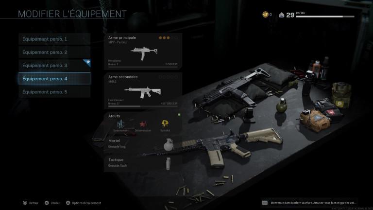 plan d'arme MP7 perceur