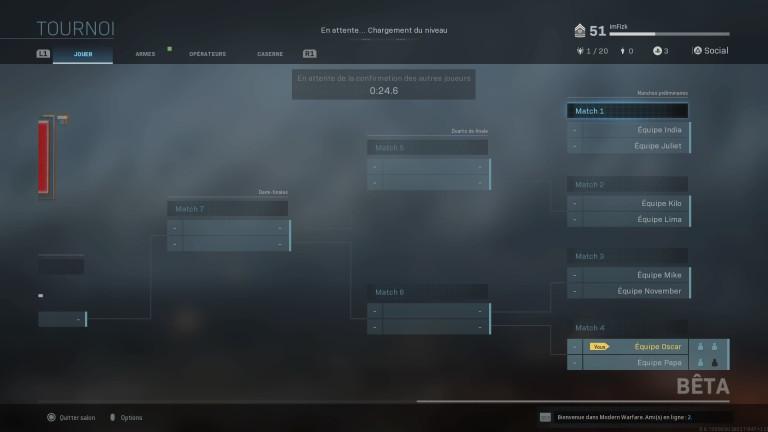 calendrier tournoi MW