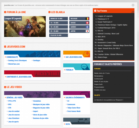 Liste des forums, nouvelle version