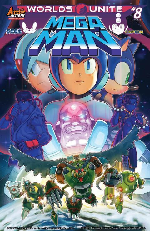 Les cross-over Sonic et Megaman en comics