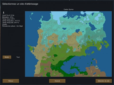 Carte du Monde - Rimworld