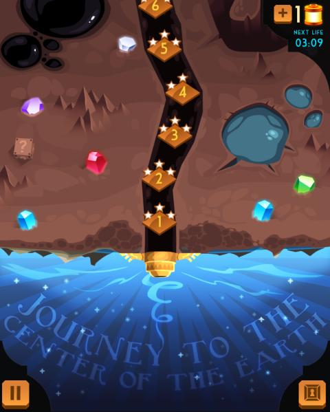Rockfaller Journey : Voyagez jusqu'au centre de la Terre !