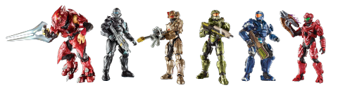 Des jouets sur le thème de Halo en approche