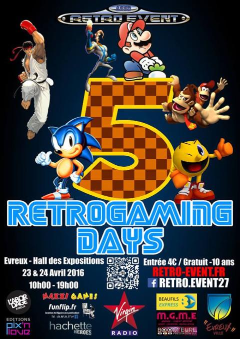 RetroGaming Days, convention de jeux vidéo rétro de Normandie ce week-end à Evreux