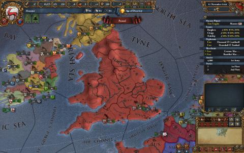 Nouvelles provinces Angleterre