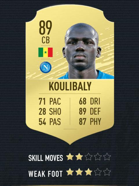 koulibaly note FIFA 20