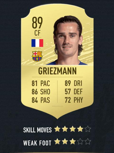 griezmann note FIFA 20