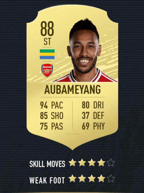 aubameyang note FIFA 20