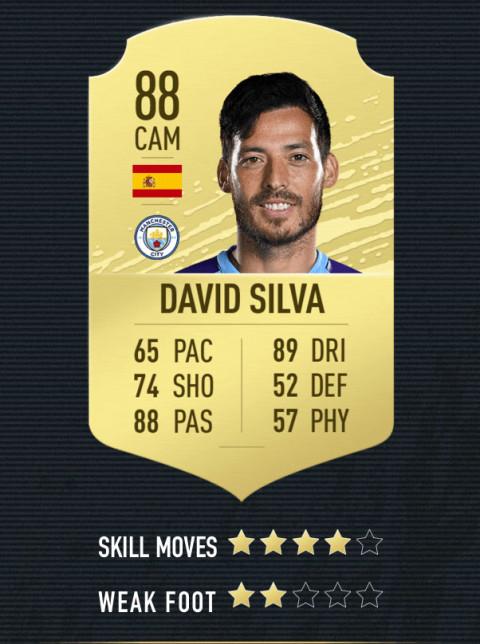 david silva note FIFA 20
