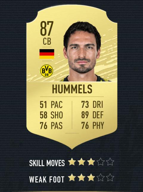 hummels note FIFA 20