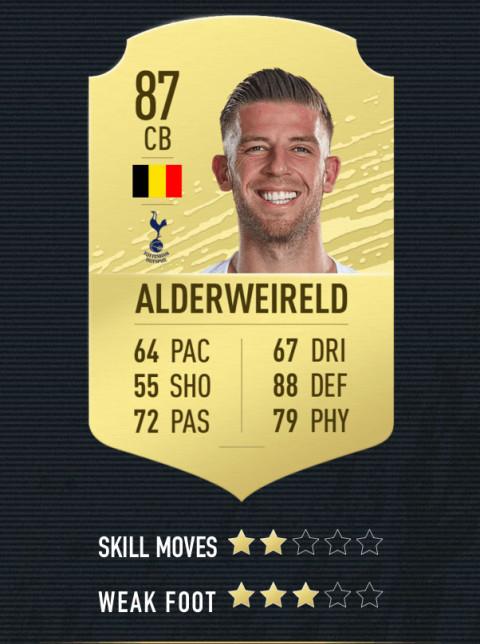 Alderweireld note FIFA 20