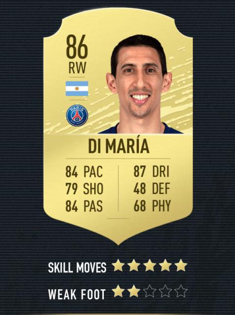 di maria note FIFA 20