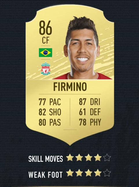 firmino note FIFA 20