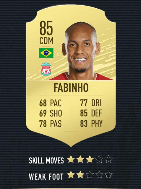 fabinho note FIFA 20
