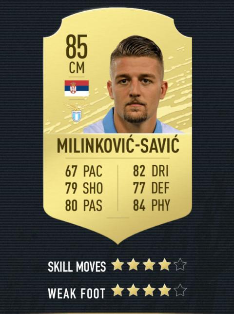 Milinković-Savić note FIFA 20