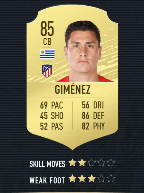 gimenez note FIFA 20
